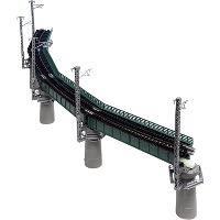 20-823 カーブ鉄橋セットR448-60° 緑