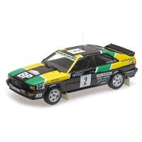 "1/18 Audi Quattro ""AUDI SPORT"" Mouton / Pons Rallye DES 1000 Pistes 1981"
